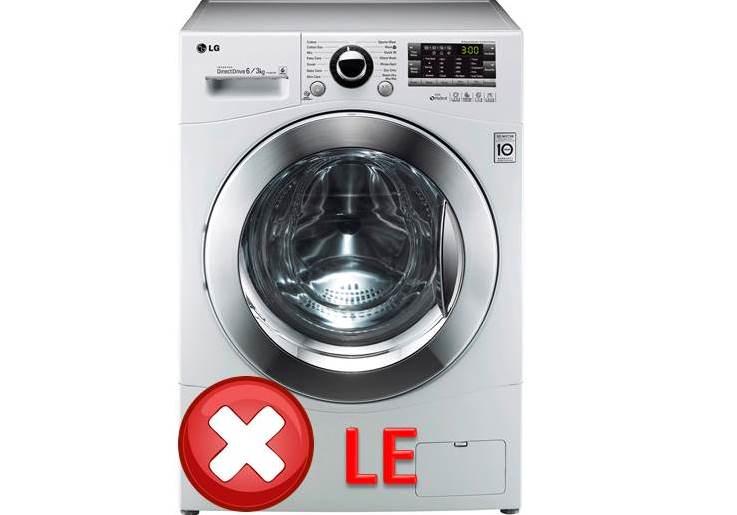 DTC LE és 1E az LG mosógépen