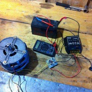 генератор от двигателя на пералната машина