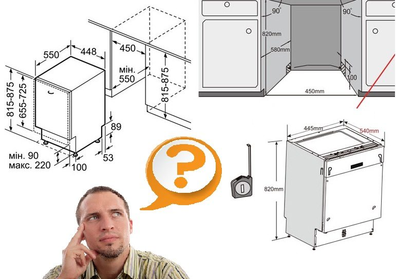 A beépített mosogatógép felszerelése