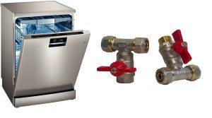 Кран за свързване на съдомиялната машина към водоснабдяването