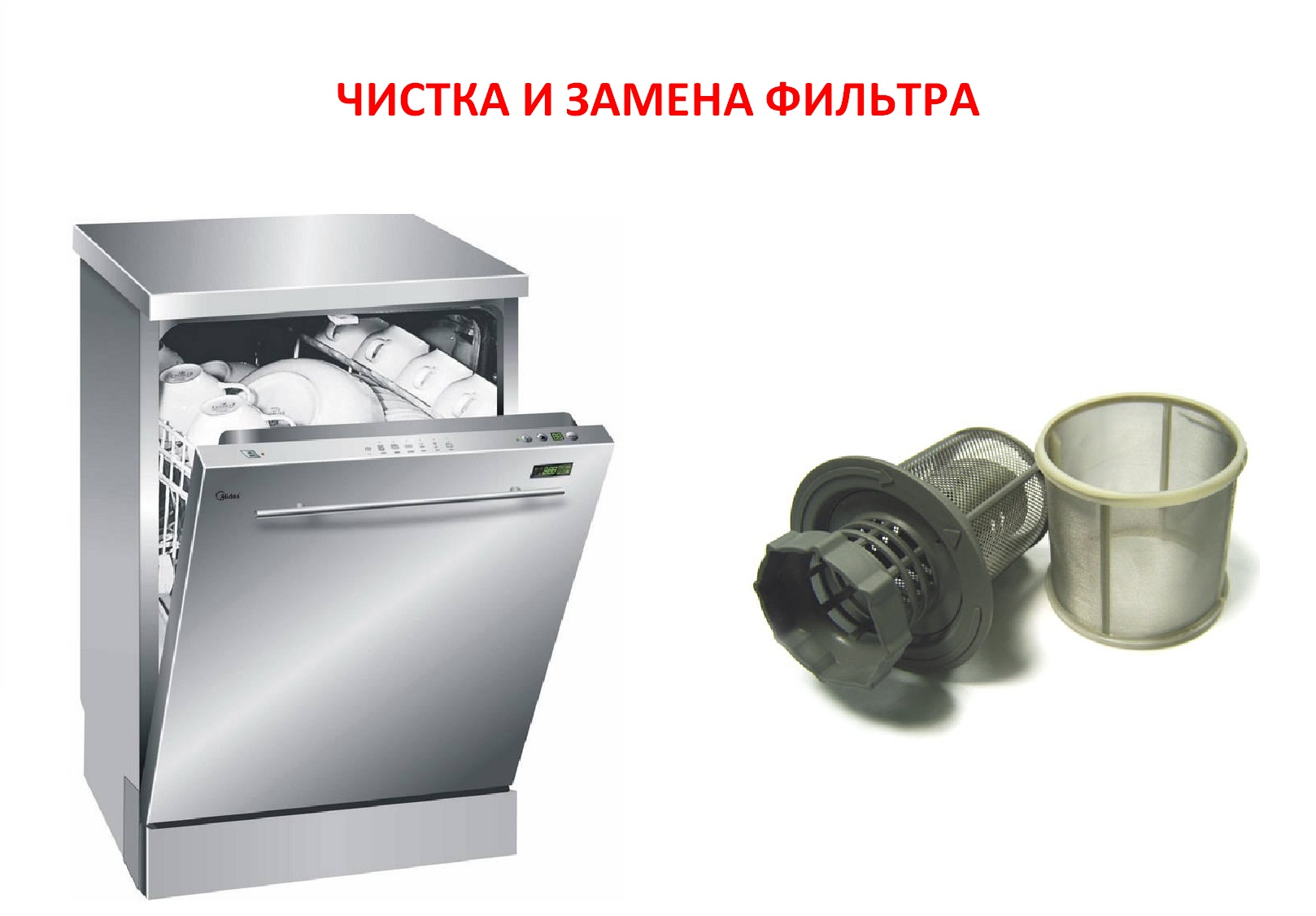 Подмяна и почистване на филтъра на съдомиялната машина