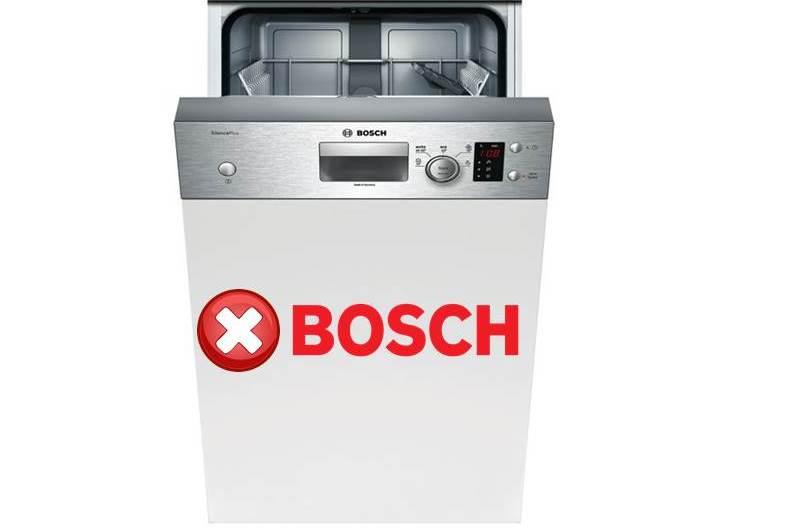 Грешки в съдомиялната машина Bosch