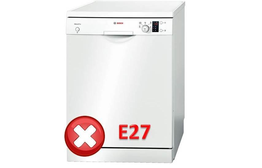 Грешка E27 в съдомиялната машина на Bosch