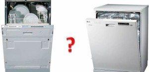 Beépített és nem beépített mosogatógépek - mi a különbség?