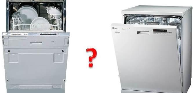 Вградени и незастроени съдомиялни машини - каква е разликата?