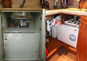 миялна машина под мивката