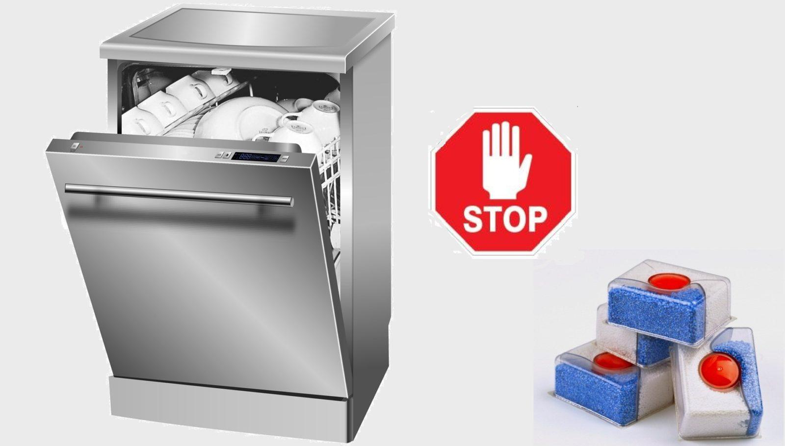 Tablet tidak dibubarkan dalam mesin basuh pinggan mangkuk - apa yang perlu saya lakukan?