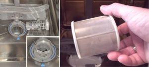 почистване на филтъра за съдомиялна машина