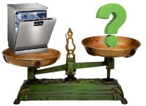 Каква е теглото на съдомиялната машина
