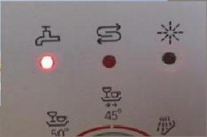 A mosogatógép csaptelepje világít