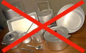 Защо да не измиете алуминиевите чинии в съдомиялната машина?