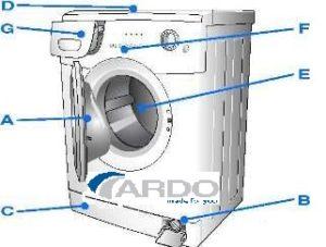 מכשיר מכונת כביסה Ardo