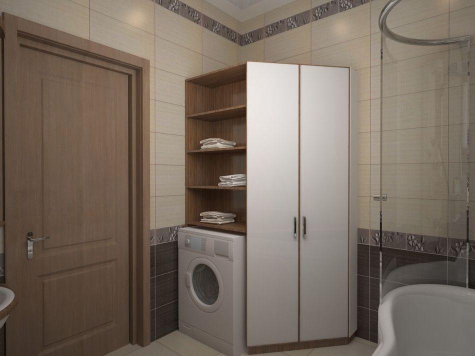 Kệ trong phòng tắm phía trên máy giặt