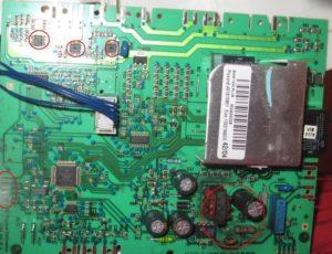 счупена контролна платка за electrolux lux