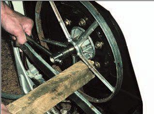 премахване на макарата на барабана