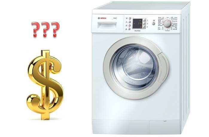 Hvor mye koster en vaskemaskin?