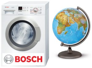 Di mana untuk memasang mesin basuh Bosch