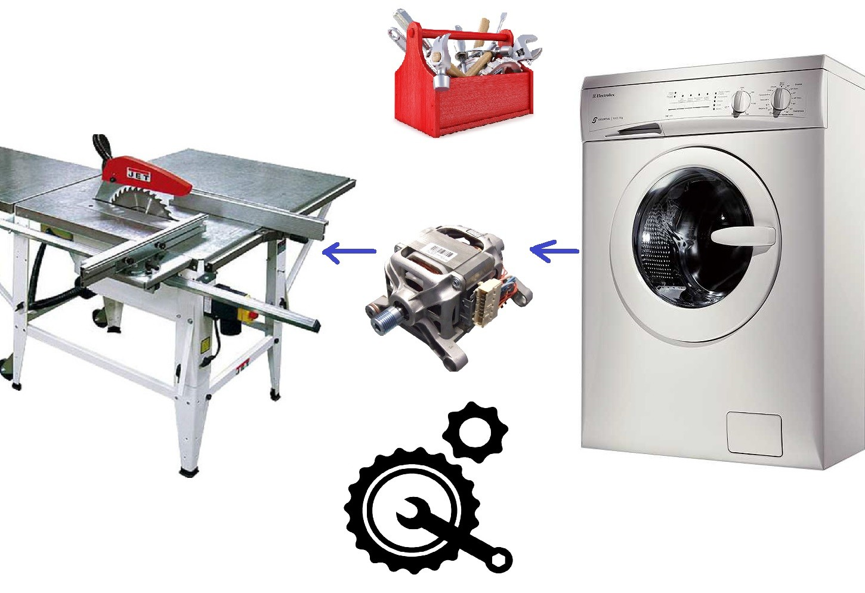 עגול מהמנוע ממכונת הכביסה