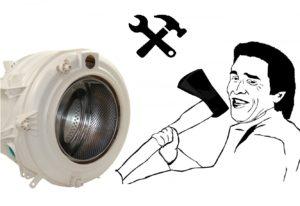 פירוק תוף מכונת הכביסה