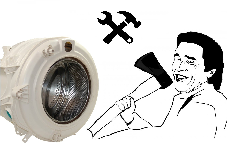 Демонтиране на барабана на пералната машина