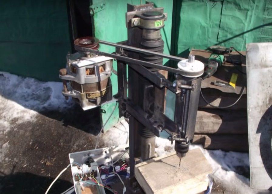 монтаж на двигателя върху машината