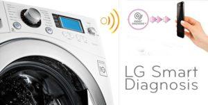 Diagnosis pintar dalam mesin basuh LG