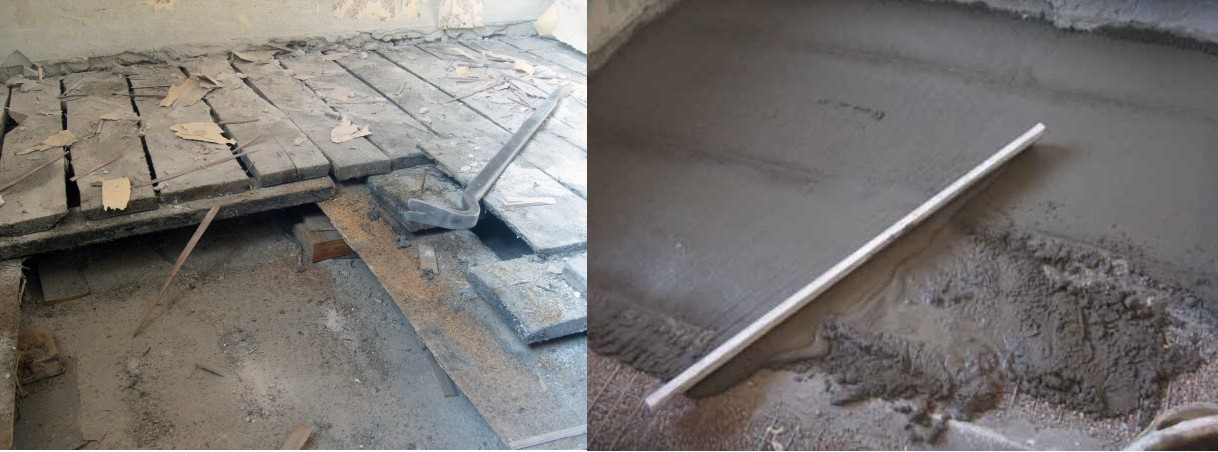 перална машина бетонна платформа