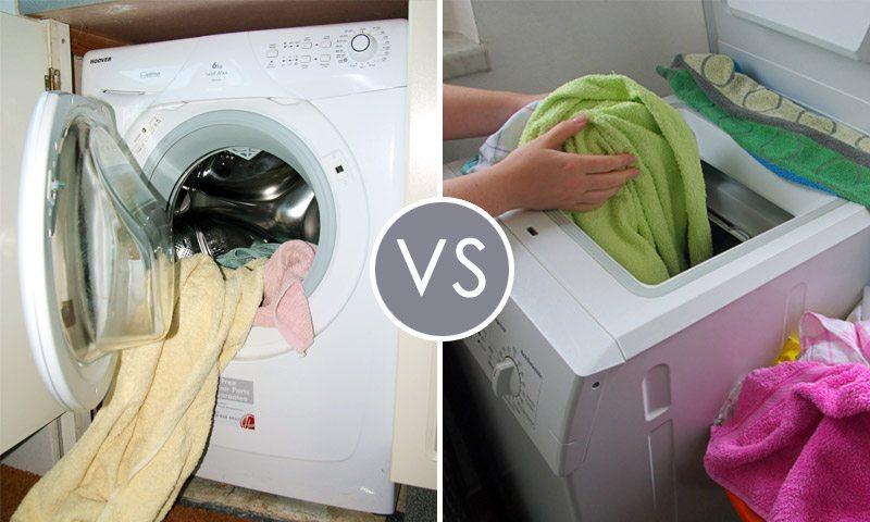 מכונת כביסה טעינה עליונה או טעינה קדמית - מה עדיף?