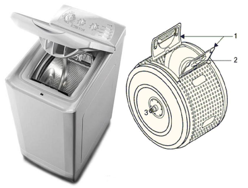 Барабанът е задръстен в пералната машина с най-високо зареждане