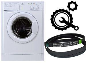 איך לשים חגורה על מכונת כביסה