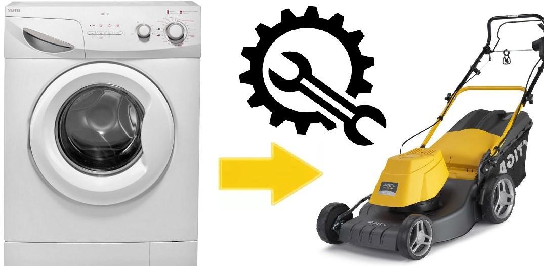 Домашна косачка с електрически мотор от пералня