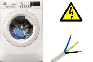 напречно сечение на тел за свързване на пералня