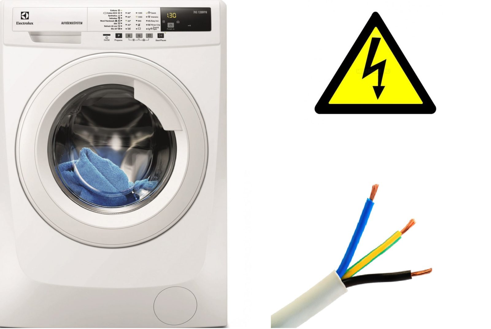 Odjeljak kabela za perilicu rublja