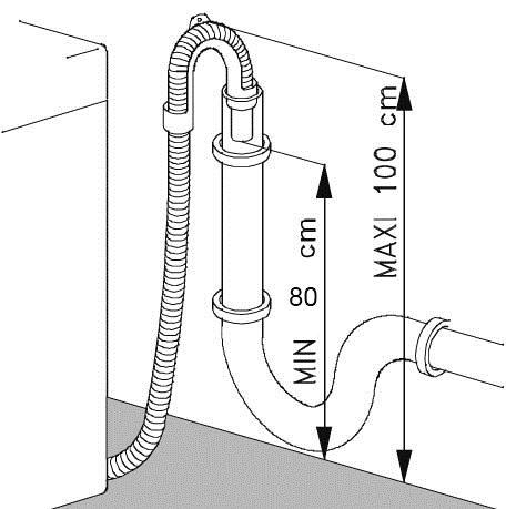 височина на връзката на канализацията