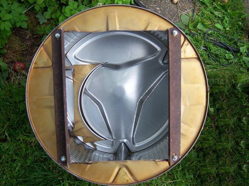 закрепете ъгъла към барабана
