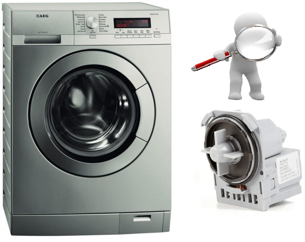 Как да проверите помпата за изтичане на пералня