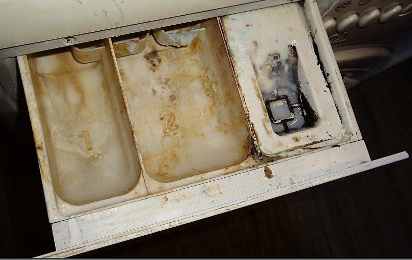 Как да почистите тавата с прах в пералнята