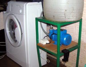 Свързване на пералня в селска къща без течаща вода