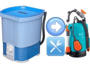 Vrtna pumpa za zalijevanje iz perilice rublja