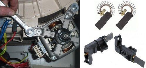 издърпайте и сменете четките на двигателя