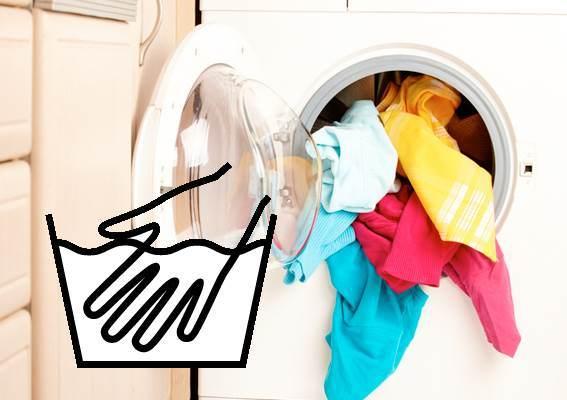 מה הפירוש של סמל ה- Wash של עדין?