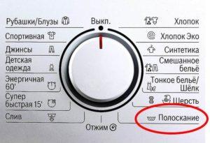 Режим на изплакване в пералнята (икона)