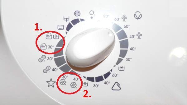 икона на перална машина zanussi