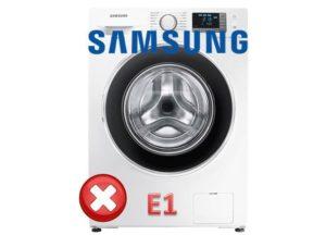 Грешка E1 - пералня Samsung
