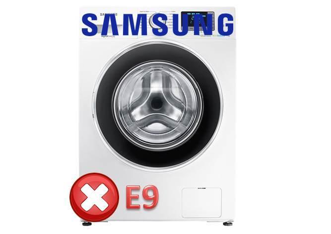 Ralat E9 di mesin basuh Samsung
