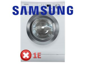 Kesalahan 1E, 1C, E7 di mesin basuh Samsung