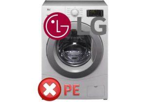 PE грешка в пералнята на LG