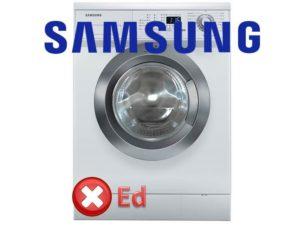 Ralat Ed pada mesin basuh Samsung