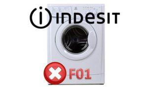 Ralat F01 dalam mesin basuh Indesit