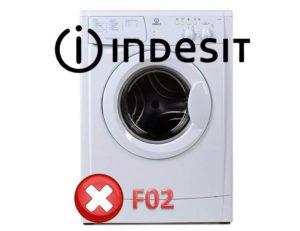 Ralat F02 di mesin basuh Indesit